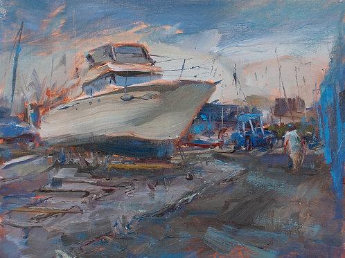 Boat in Shipyard
