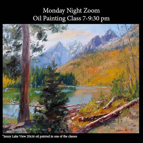 Monday Night Online Oil Painting Class 9/28 - 11/16