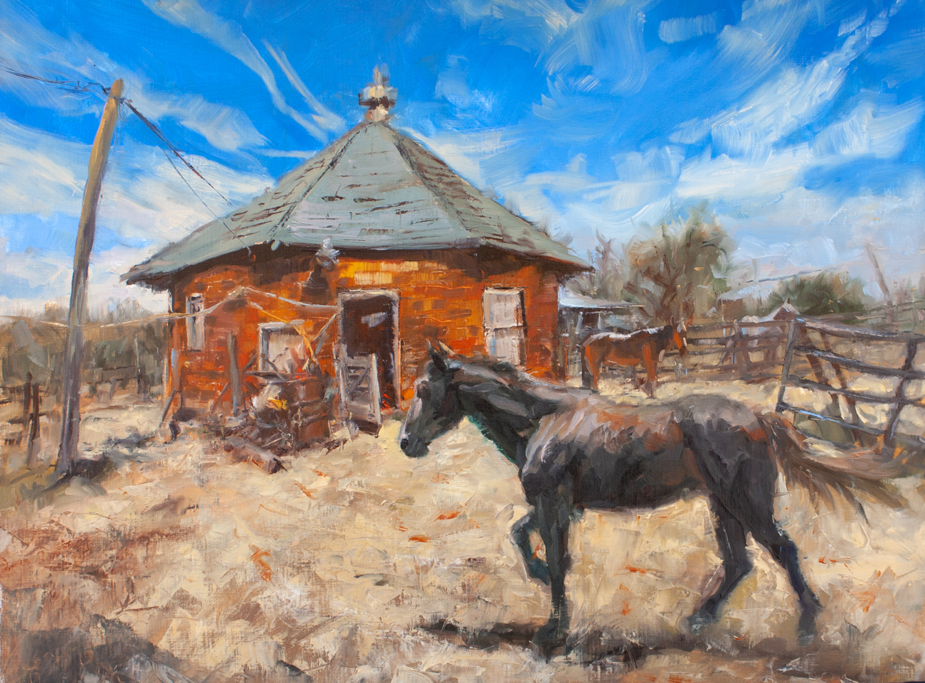 Horses of the Round Barn