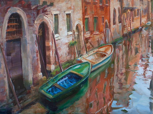Two Boats in the Canal