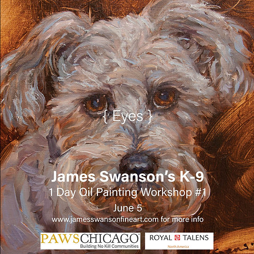 Eyes K-9 Oil Painting Workshop #1