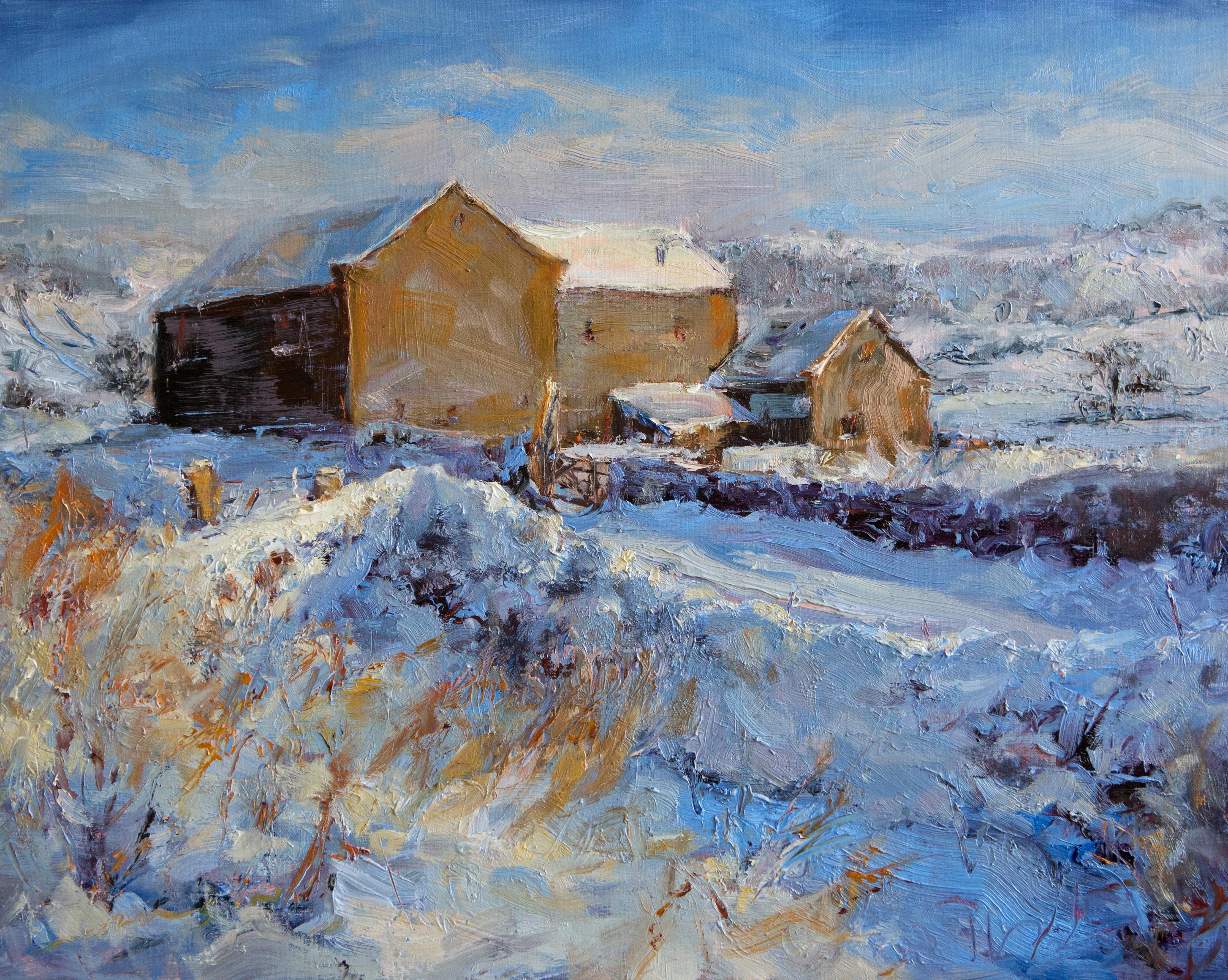 Old Barn New Snow