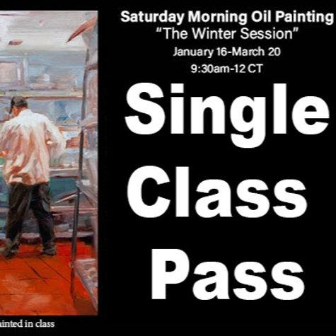 Saturday Oil Painting Single Class Pass