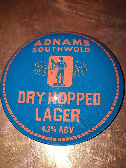 Adnams Dry Hopped Lager 4.2% (2 Pints)