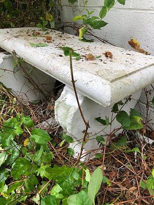 Pair of Concrete Garden Benches