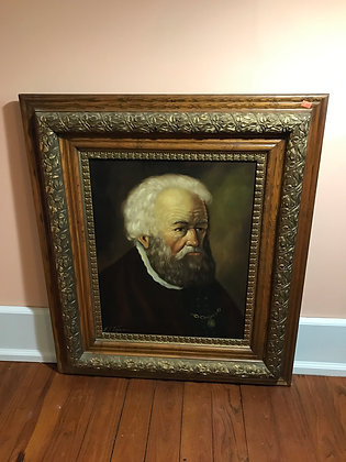 Oil on Canvas Portrait in Antique Frame