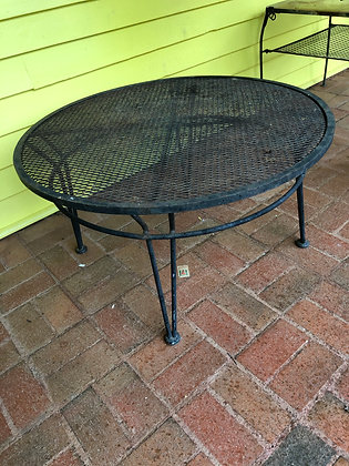"MCM Salterini ""Radar"" Iron Outdoor Coffee Table"