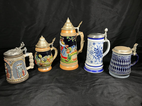 Collection of German Steins