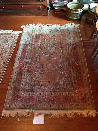Vintage Hand Knotted Persian Prayer Rug