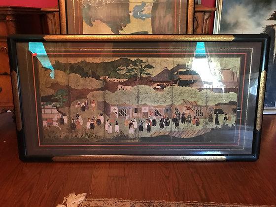 Custom Framed Print of Japanese Six Panel Screen