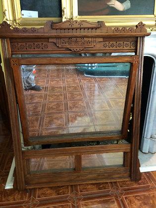 Antique Eastlake Cherry Dresser Mirror
