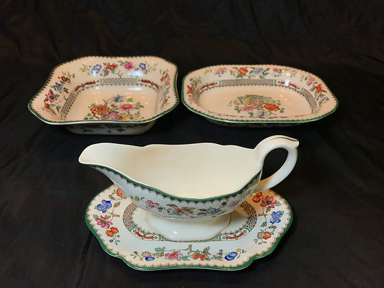 "Spode ""Chinese Rose"" Serving Piece Trio"