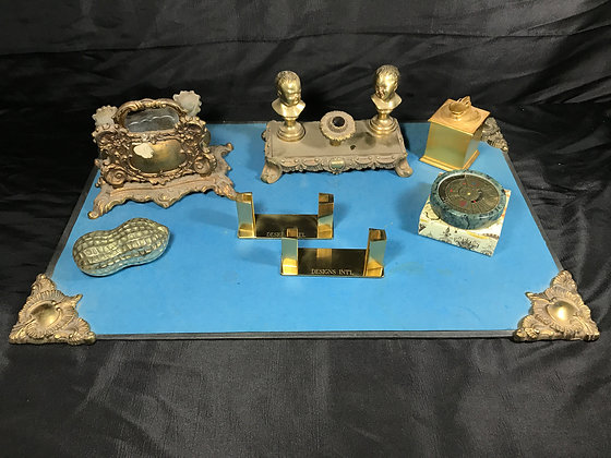 Collection of Brass Desk Accessories