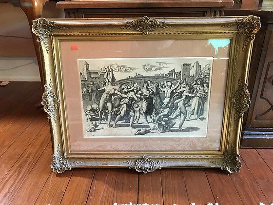 """Framed Bookplate """"Le Massacre Des Innocents"""""""