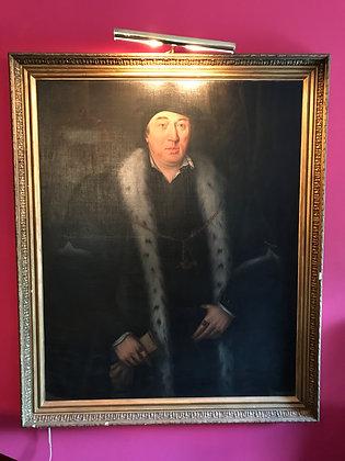 Monumental Original Oil on Canvas Portrait of Sir Thomas Pope