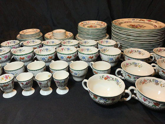 "Set of Spode ""Chinese Rose"" Dinnerware"
