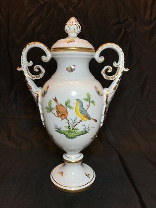 "Herend ""Rothschild Bird"" Double Handled Lidded Urn"