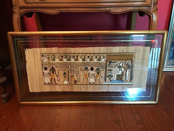Custom Framed Egyptian Papyrus Painting