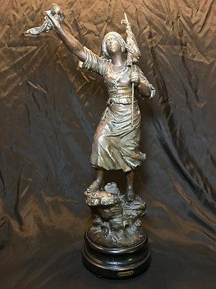 "Antique Spelter Figurine ""Distress"""
