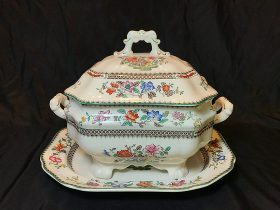 "Spode ""Chinese Rose"" Soup Tureen"