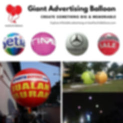 Giant Advertising Helium Balloon Supplier Malaysia
