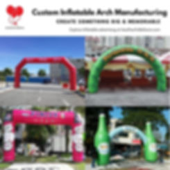 Custom Inflatable Arch Manufacturing
