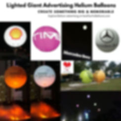 Lighted Giant Advertising Balloon Supplier Malaysia