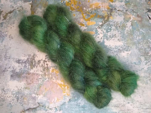 Forest Green, Mohair Silk Lace