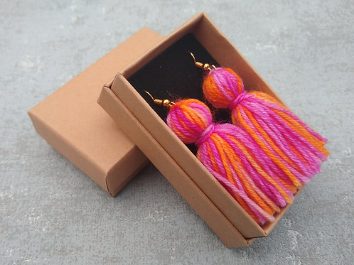 Hand Dyed Tassel Earrings