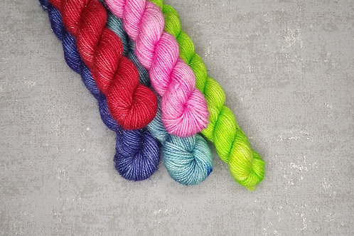 Multicoloured 1, Sparkle 4ply