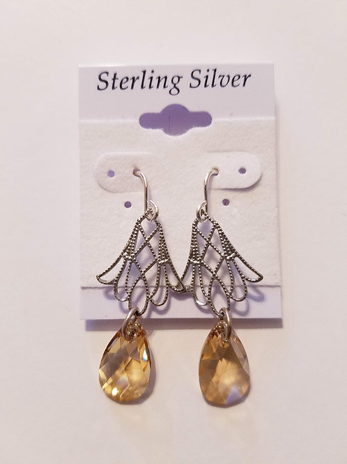Swarovski Crystal Pear Shape Drop Earring