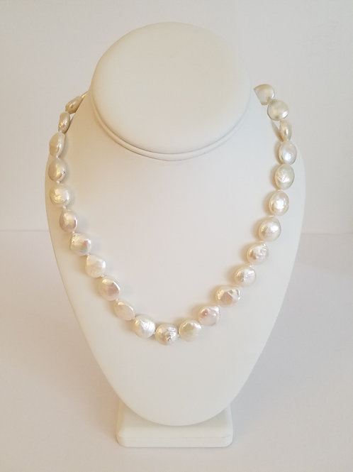 FWP COIN PEARL NECKLACE
