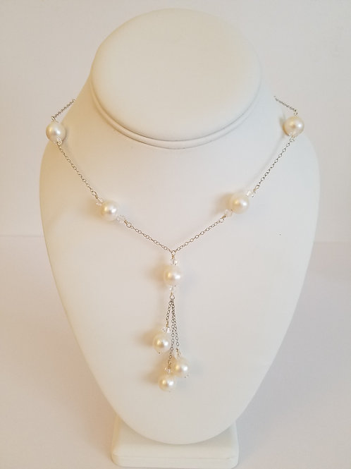 FRESHWATER PEARL Y DROP NECKLACE