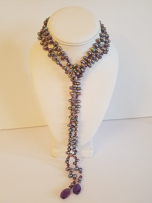 FRESH WATER PEARL LARIAT NECKLACE