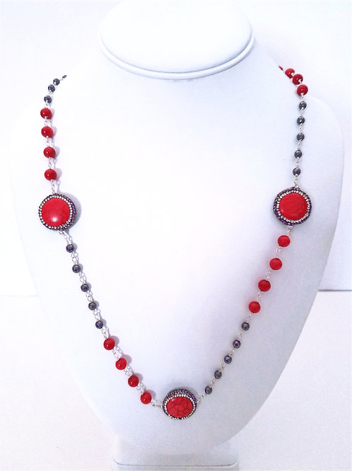 Red Coral and Red Magnesite w /Hematitie