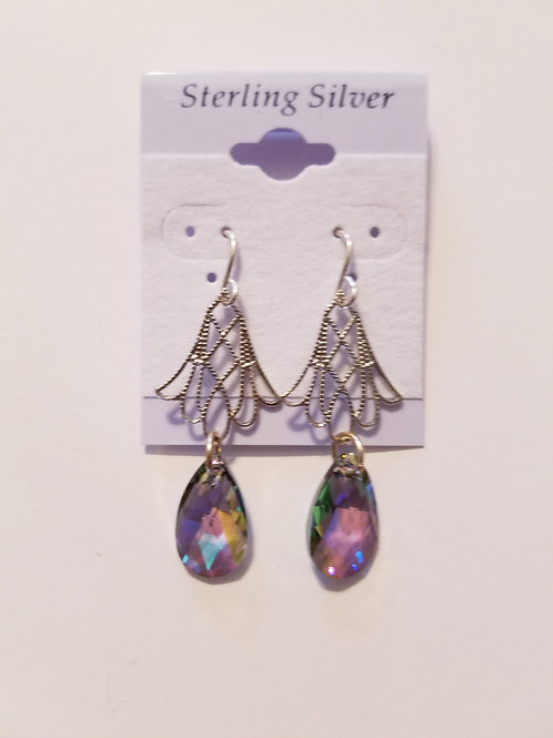 Swarovski Crystal Pear Shape Drop Earring PS