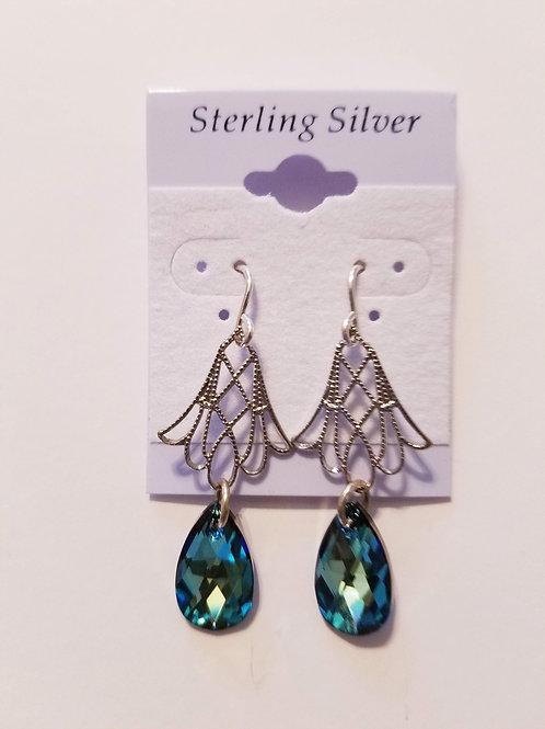 Swarovski Crystal Pear Shape Drop Earring SG
