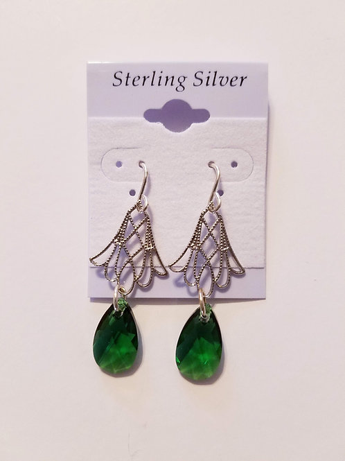 Swarovski Crystal Pear Shape Drop Earring