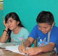 Students studying in Proyecto Itzaes in the Yucatan