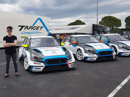 BARR MIXING IT WITH SOME BIG NAMES AT THE FRONT OF TCR EUROPE