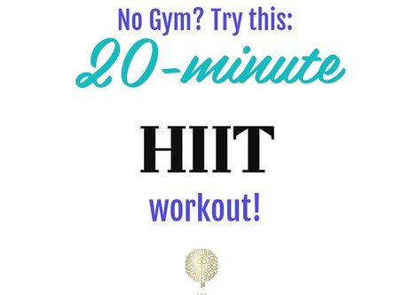20-Minute HIIT Workout at HOME!