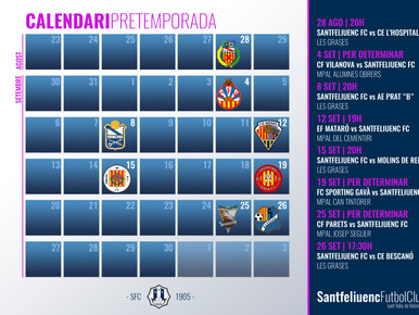 Así queda el calendario de partidos de pretemporada