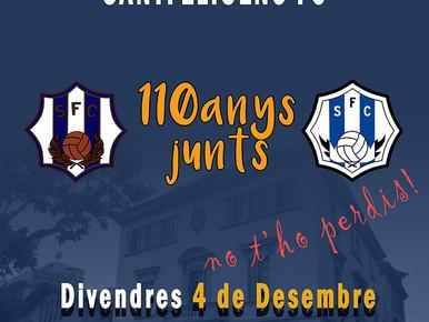 El Santfeliuenc pren la Plaça de la Vila aquest divendres en un dels actes més especials del 110 ani