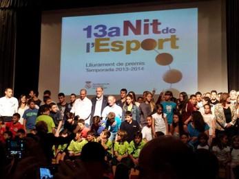 L'equip Benjamí A protagonista a la Nit de l'Esport