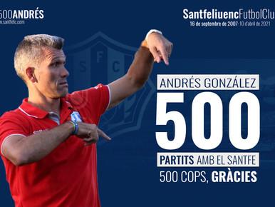 Andres González, un mite que arriba al partit 500