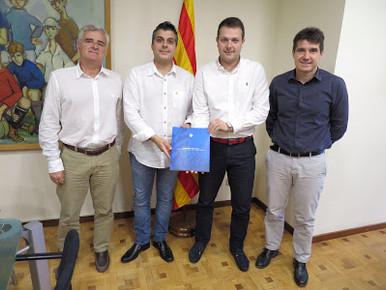 El Santfeliuenc rebut pel Secretari de l'Esport de la Generalitat