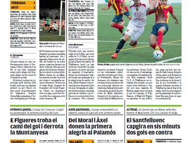 El Santfeliuenc capgira en 6 minuts 2 gols