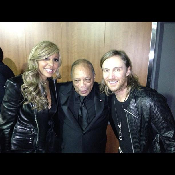 David Guetta and wife