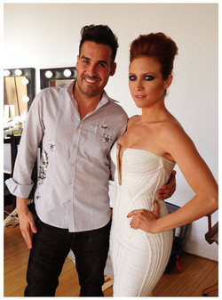 Britney Snow on set with Jesse