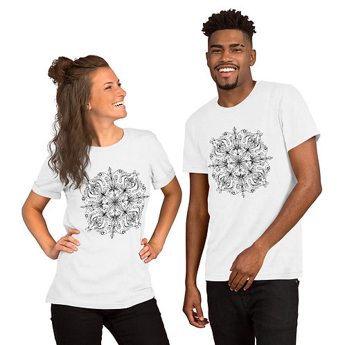 Faces in a Mandala - Short-Sleeve Unisex T-Shirt